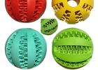 Multicolor TPR Recycled Dog Toys , 7.3cm Watermelon Pattern Ball Plastic Puppy Toys