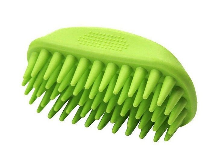 Soft Bristle Durable Cat Grooming Brush , Silicone Dematting Dog Hair Brush