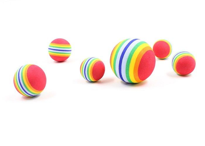 Three Size EVA Plastic Dog Balls , Cats Toys Iridescent Tennis Plastic Squeaky Dog Balls