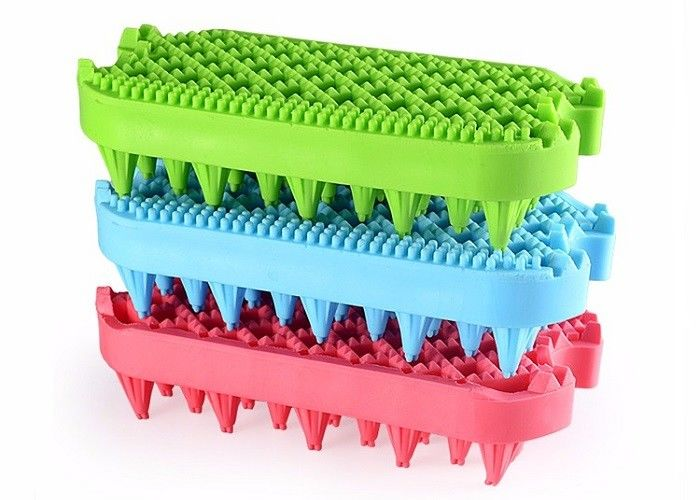 Double Side Bristle Plastic Pet Products Multi Color Small Pets TPR Eco Friendly