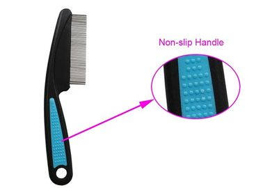 Chiny ABS Non Slip TPR Uchwyt Pet Flea Comb Multi Color With Stainless Steel Teeth dystrybutor